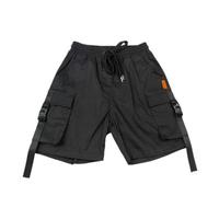 Шорты (130-160)-на резинке с завязкой, с боковыми карманами чёрный 110703