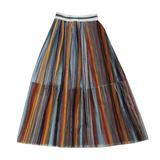 Юбка (130-160)-цветное гафре из сетки, на блестящей  резинке голубой 1 184500