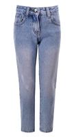 Джинсы (110-122)-царапки, на карманах- желтое и розовое сердечко из паеток голубой 920132-D