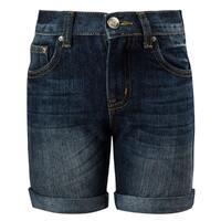 Шорты джинсовые (92-122)- с отворотами синий 1 520043-А