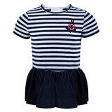 Блуза (92-122)-с вышитой эмблемой, сзади красные бантики, снизу баска белый/синий 320005-A