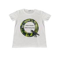 Футболка (98-130)-Динозаврик в кругу белый 610721
