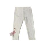 Лосины (98-130)-Фламинго наклейка с перьями молочный 683064