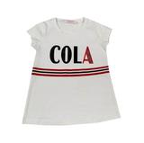 Футболка (98-130)-COLA, с полосатой резинкой впереди белый 683068