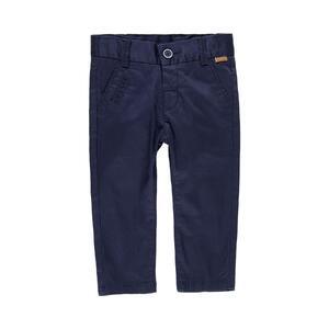 Брюки (92-116)- узкие,с отстрочкой на карманах синий хлопок 719029-2440