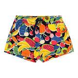 Шорты (116-152)-пляжные, на резинке, с ярким цветочным принтом цветные 829379