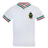 Футболка (92-122)-Мысик,разноцветная маска-вышивка, с красно-зелёной трикотажной отделкой белый 620010-А