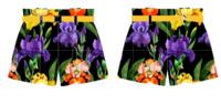 Шорты (92-122)-с ярким цветочным принтом и желтым ремешком разноцветные 320105-C
