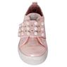 Кеды (26-30)-на широкой липучке -жемчужинки розовый Лазерная Кожа 18375-36