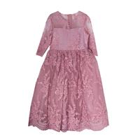 Платье (6-10)-3/4 рукав, шитье с паеткой сухая роза 1 20462