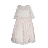 Платье (6-10)-3/4 рукав, шитье с паеткой молочный 1 20462
