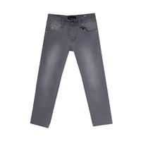 Джинсы (146-170)--вываренные, вышивка на кармане серый хлопок 2719