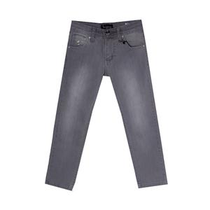 Джинсы (116-140)-вываренные, вышивка на кармане серый хлопок 2719