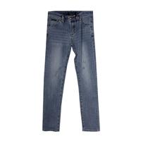 Джинсы (28-32)-вываренные, царапки, с металлической эмблемой на кармане голубой хлопок 335119
