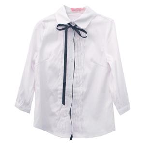Школьная форма Блузка (11-21)-3/4,мелкая складка вдоль планки белый 782284