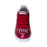 Кеды (31-36)- на шнурке,c белым  рисунком на носке,на белой подошве,на пятке красная  вставка  с белыми буквами красный кожа 164-260-06