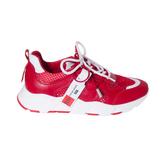 Кроссовки (36-40)-красная сеточка с белыми шнурками,бело-красная подошва красный кожа 9-905-1