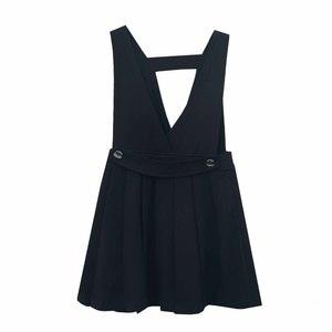 Школьная форма Сарафан (122-152), на лямках с поперечной вставкой на спинке, юбка в складку, синий трикатин 702811-1
