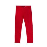 Брюки (116-152)- узкие,с отстрочкой на карманах красный хлопок 739144-3654