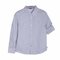 Рубашка (116-172)- д.р,серые очки,латки на рукавах,с подворотом белый хлопок 739133-9221