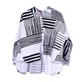 Рубашка (13-21)-оверсайз,полосы, круглый воротничок бело/чёрный 1 783499