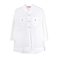 Рубашка (15-23)-на поясе, с двумя карманами, на спинке набор из аксессуаров с длинной лентой молочный 1 783485