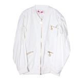Куртка (15-23)-золотые замки, на спинке Собачка с короной из паеток, рукав на сборке белый 1 782931