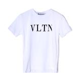 Футболка (98-170)- надпись VLTN белый хлопок 3537-1