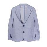 Пиджак (122-154)- без подклада,2 пуговицы,лён,3 кармана голубой 110732