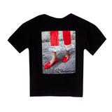 Футболка (13-21)-красные лоуферы в камешках чёрный 768314