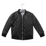 Куртка (3-12)- Ликарулла, стёганная, на замке чёрный прессованная кожа 1611