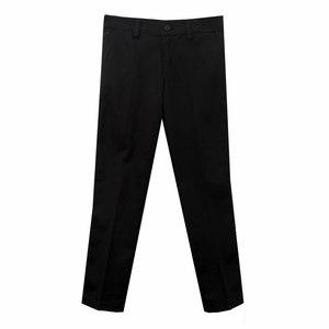Брюки (6-18)- слаксы, на кармане вышивка лошадка,на заднем кармане петелька чёрный хлопок 005/006-3