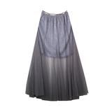 Юбка (длинная)-на резинке,короткая юбка с люриксом.верхняя длинная сетка серый сетка 3093
