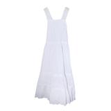 Платье (128-158)- шитьё, юбка 3-х ярусная , вставки из мерешки, лямки из шитья белый 1 319149-G
