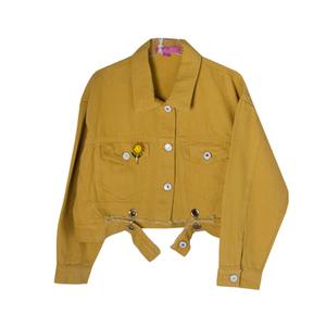Куртка джинсовая (15-23)-укороченная, брелок-подсолнух горчица 1 783627
