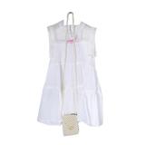 Платье (3-11)-3-х ярусное, кокетка-сетка,с сумкой из жемчуга белый 783608