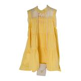 Платье (3-11)-3-х ярусное, кокетка-сетка,с сумкой из жемчуга жёлтый 783608