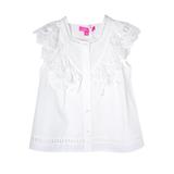 Блуза (13-21)-б/р,распашонка с мерешкой и шитьём вдоль рукава молочный 1 783671