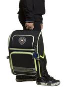 Рюкзак (ортопедический)-с серебристой полосой, раскладушка зелёный 432