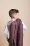 Костюм (6-9)-3-ка, мелкая клеточка,брюки серые с кантом на кармане бордо/серый 4078/4079-2