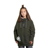 Куртка (140-164)-бочонокс серебристыми вставками и капюшёном, брелок сумочка-кепка хаки сентипон 2010