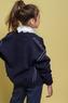 Школьная форма Кофта (134-164)-на замке, воротник полустойка, с 2-мя карманами, белой пунктирной линией синий 1 62620