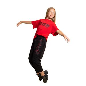 Костюм спортивный (8-15)-3-ка,кофта с капюшёном, красная футболка,брюки на манжетах, с надписями чёрный хлопок 20121