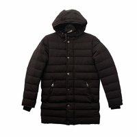 Пальто (146-170)-стеганное,с капюшёном чёрный биопух 4809