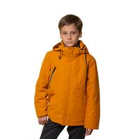 Куртка (140-170)-с капюшоном, с прорезным карманом на молнии, трикотажный ворот и манжеты терракот синтепон 20-1050