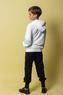 Костюм спортивный (8-15)-с капюшоном, на горловине боковой замок, с вертикальной надписью, брюки на высоком манжете белый/черный 20254
