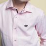 Рубашка (7-14)-д/р, потайная клетка, классика розовый 1 441-5