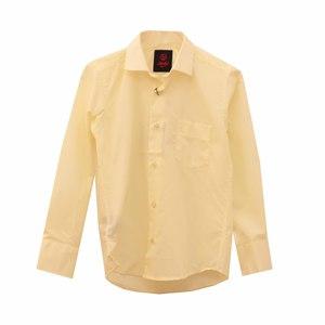 Рубашка (6-14)-д/р, с карманом, классика бледно желтый хлопок 97-47