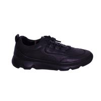 Кроссовки (37-40)-на резиновых шнурках и рельефной подошве черный кожа 60-504-26