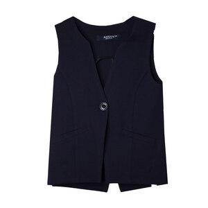 Школьная форма Жилет (5-20)-углом, на одной пуговице,два кармана синий габардин 60117-1